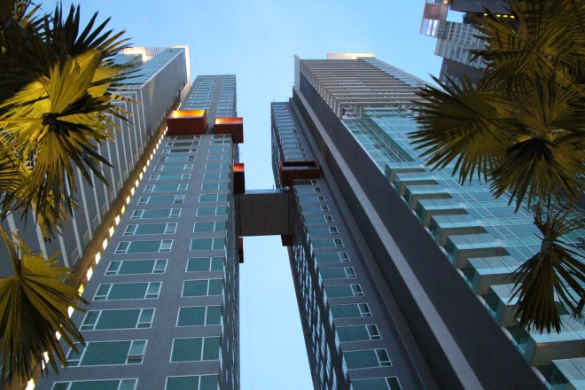 Sky-bridge between the 2 towers