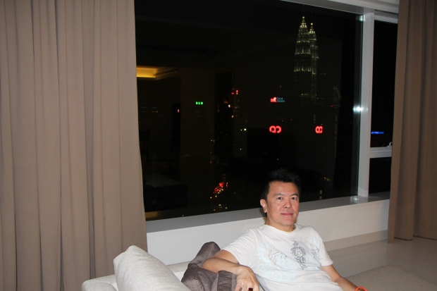 Me dream-building on the sofa what's it like to live here at 33rd floor.