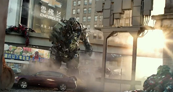 Transformers 4 uses Product Placements and Social Media Branding