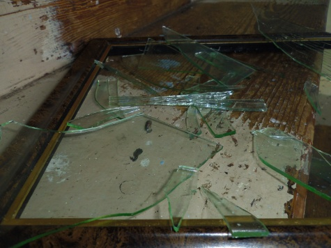 broken glass frame