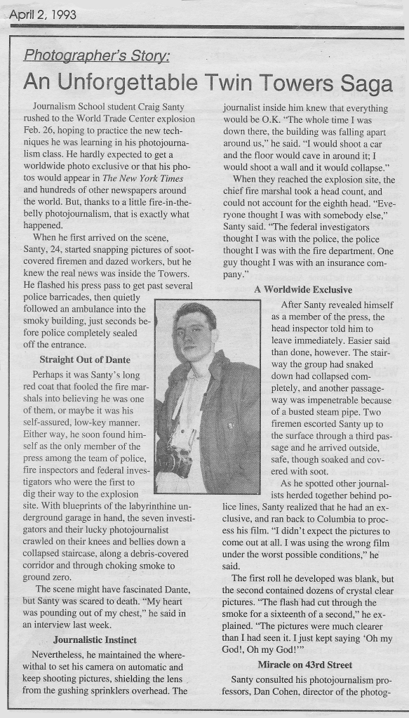 Craig WTC Article Page 1