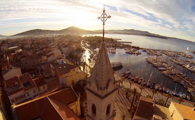 Drone's view - Sanary-sur-Mer in France