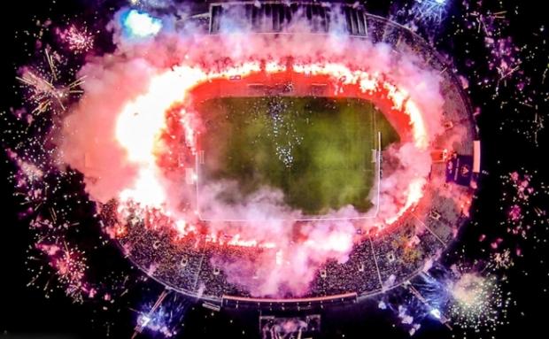 Drone's view - sports stadium in Sofia
