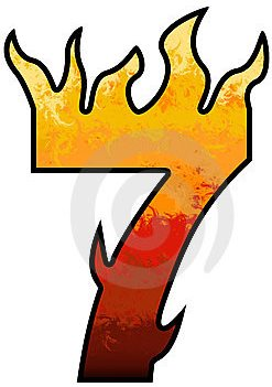 flames-number-7