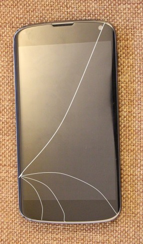 LG new screen with crack drawn