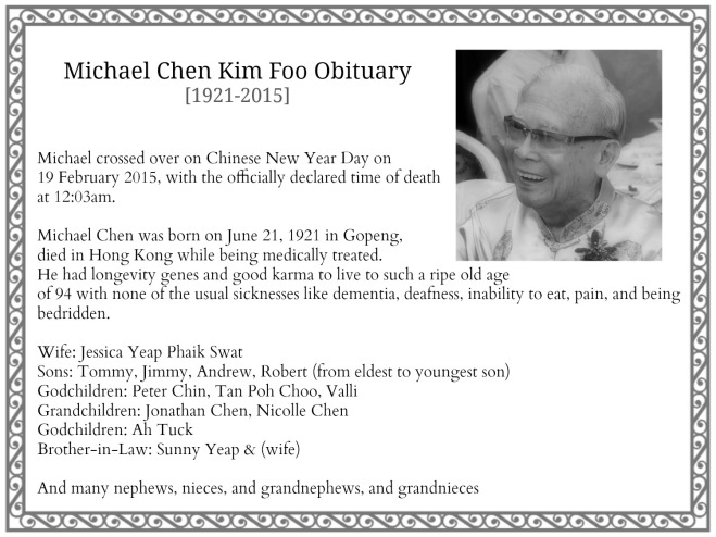 Dad Obituary