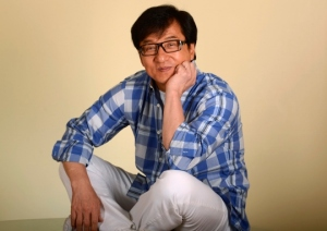 "Hong Kong actor Jackie Chan poses during a promotional event for his film ""Chinese Zodiac"" in Beverly Hills"