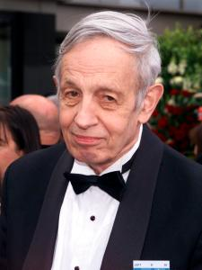 Nobel Prize winner John Forbes Nash arrives to the 74th Annual Academy Awards in Los Angeles, California, in this file photo taken March 24, 2002.  Nash, whose life was portrayed in the movie 'A Beautiful Mind', died along with his wife Alicia on Saturday in a taxi crash on the New Jersey Turnpike, according to news reports.  REUTERS/Fred Prouser/Files