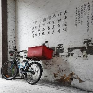 --ONE TIME USE ONLY--  --NO ARCHIVES--  This handout image shows an instagram image of a bicycle on a wall  taken by Nuno Assis.  07APR15   [18JUN2015 LEAD FEATURE 2 48HRs ]