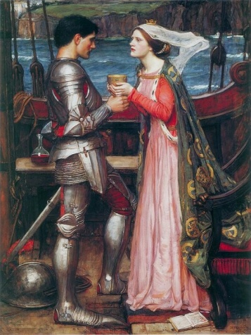 Tristan and Isolde Sharing the Potion, John William Waterhouse, 1916.