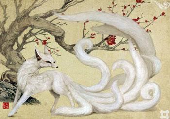 white-kitsune