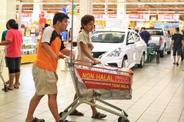 non-halal trolley
