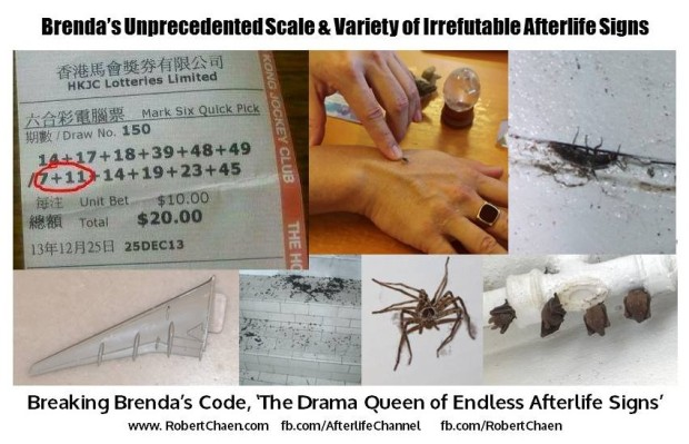 Brenda's Scale of Afterlife Signs Montage