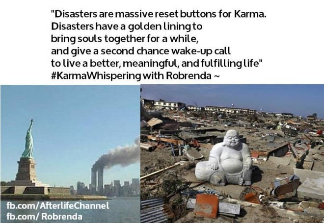 Disasters are massive reset buttons for Karma
