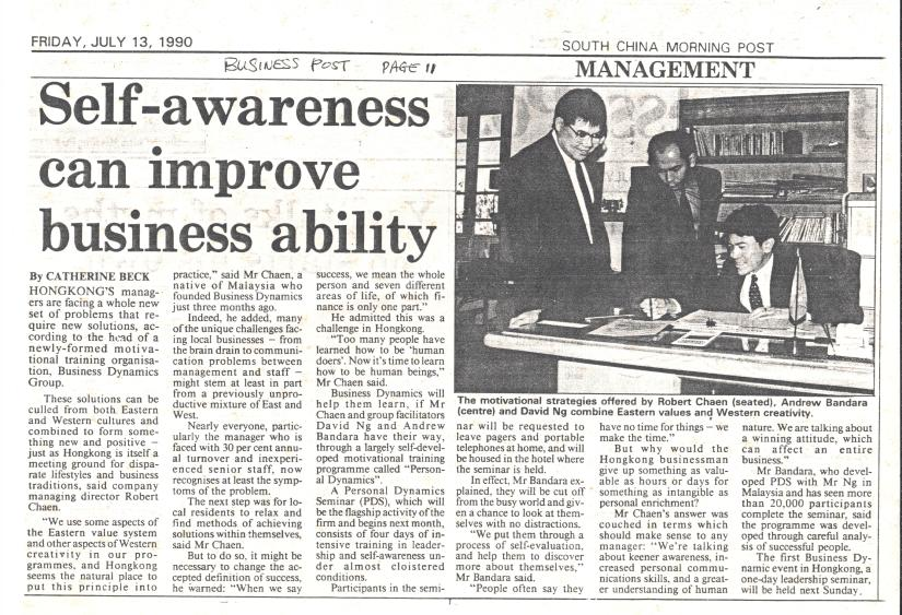 My First Business in Woodside Hong Kong & Andy Bandara (Ex-PDL): A Blast from thePast