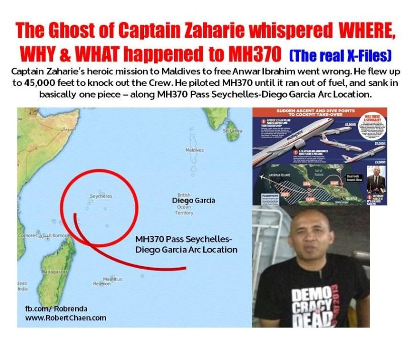 The Ghost of Captain Zaharie whispered WHERE, WHY & WHAT happened to MH370 – Part2