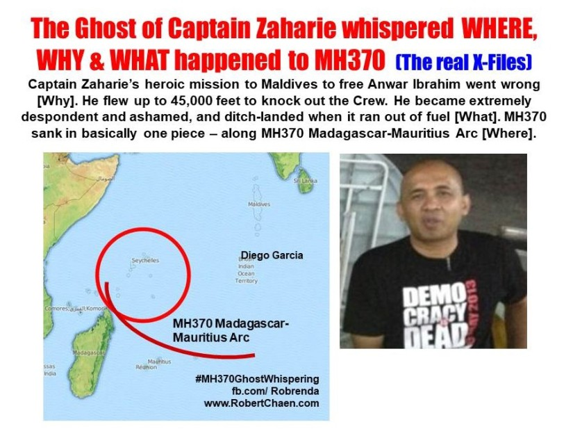 The Ghost of Captain Zaharie whispered WHERE, WHY & WHAT happened to MH370 – Part 1 (The realX-Files)
