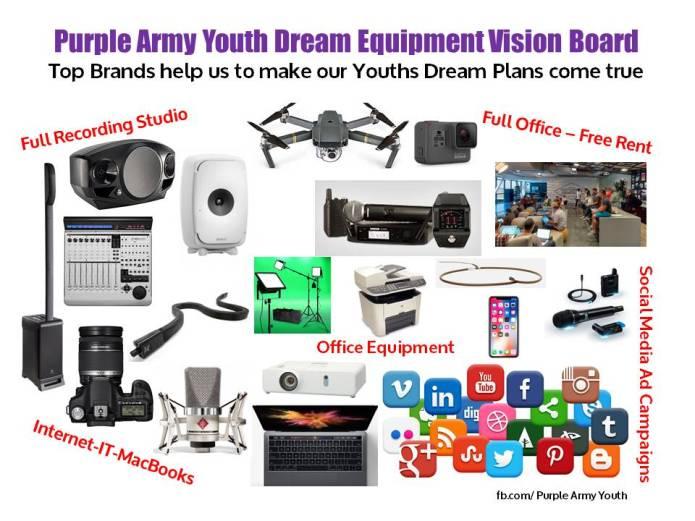 PA Dream Equipment Vision Board & Brands