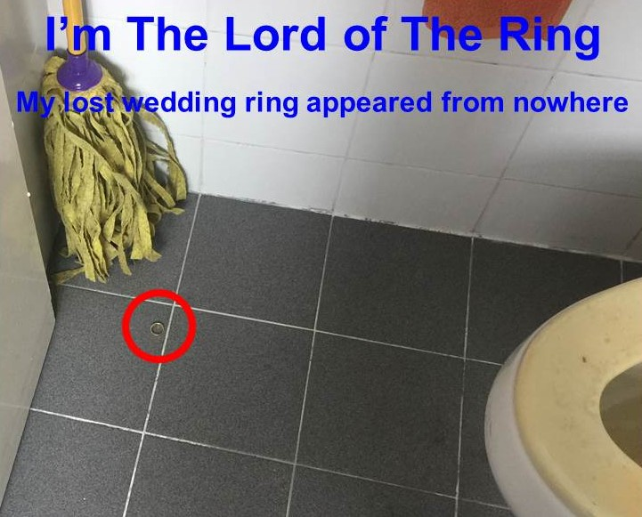 I'm The Lord of The Ring: My lost wedding ring appeared fromnowhere