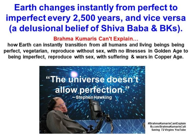Earth changes from perfect to imperfect