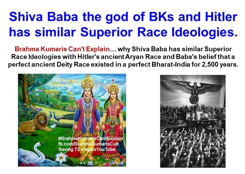 Deity Race Vs. Aryan Race:  Shiva Baba the god of BKs and Hitler has similar Superior Race Ideologies