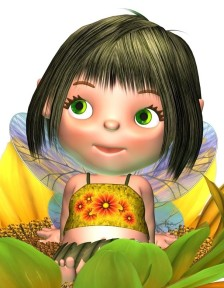Brenda Sunflower Fairy & Butterlfy FACE