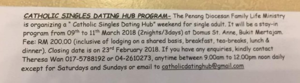 Catholic dating hub