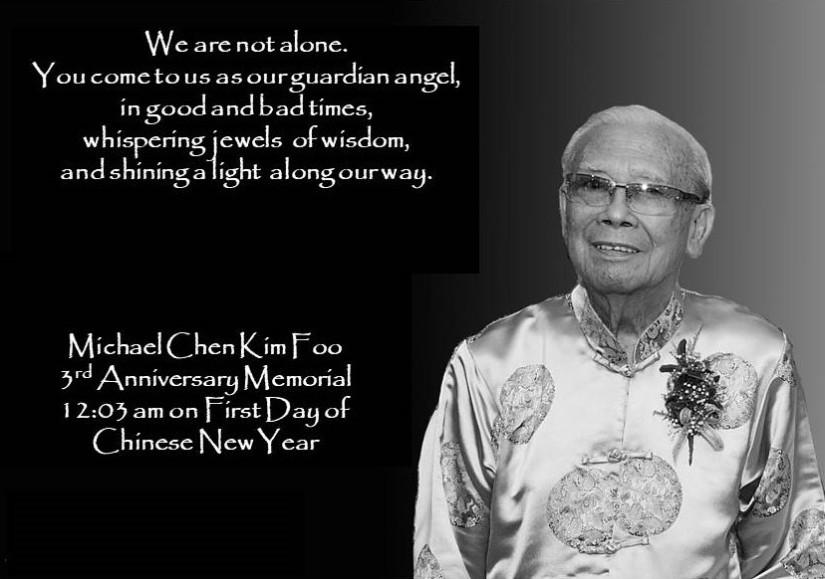 Whispering jewels of wisdom: Michael Chen Kim Foo's ThirdMemorial