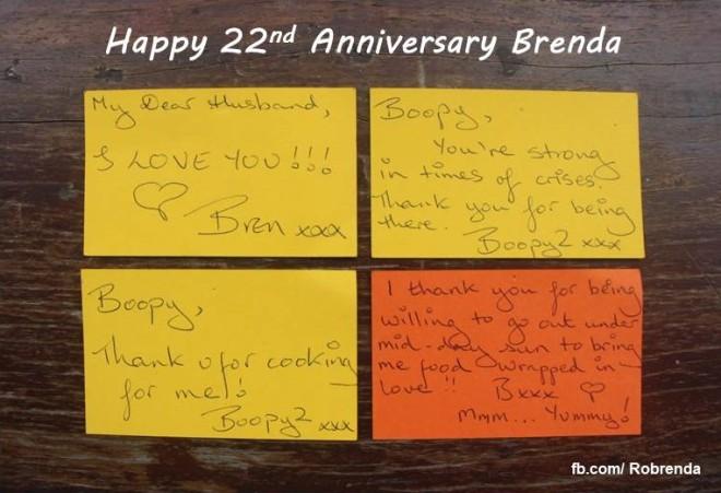 22nd Anniversary - Brenda's Love Notes