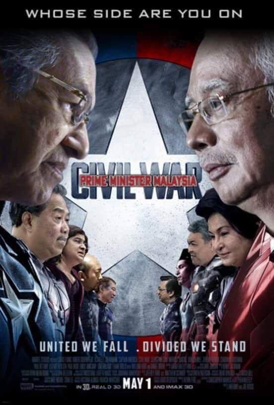 The Malvengers Civil War: The old wise fox Dr M VS. the greedy foxNajib