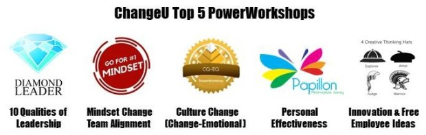 ChangeU Top 5 PowerWorkshops