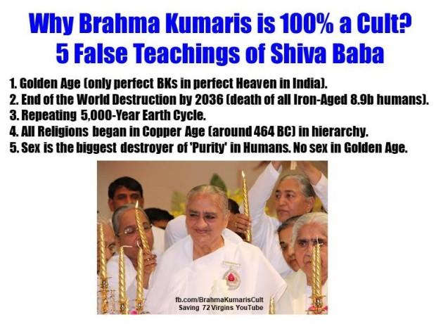 Why BK a Cult. 5 False Teachings of Shiva Baba