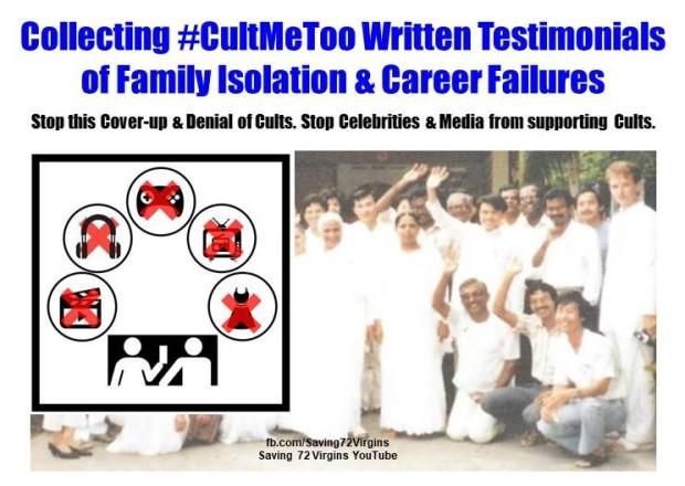#CultMeToo Testimonials