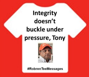 Integrity doesn't buckle under pressure, Tony