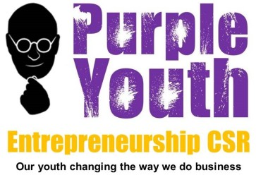 Purple Youth Entrepreneurship CSR Logo & Slogan