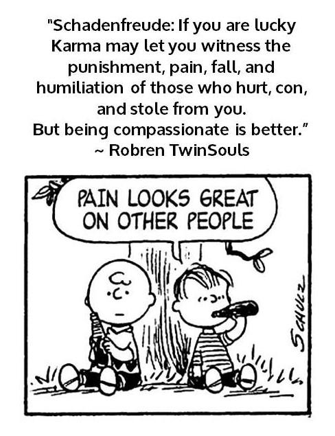 Schadenfreude - witness vs compassionate