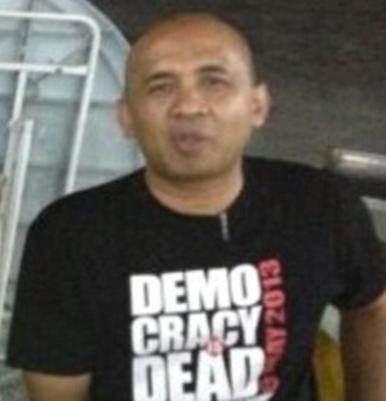 Captain Zaharie Tee Message - Democracy is dead.png