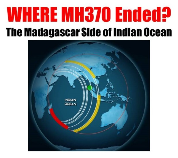 MH370 - WHERE (7 Ping Circles & Fuel Level Circle)