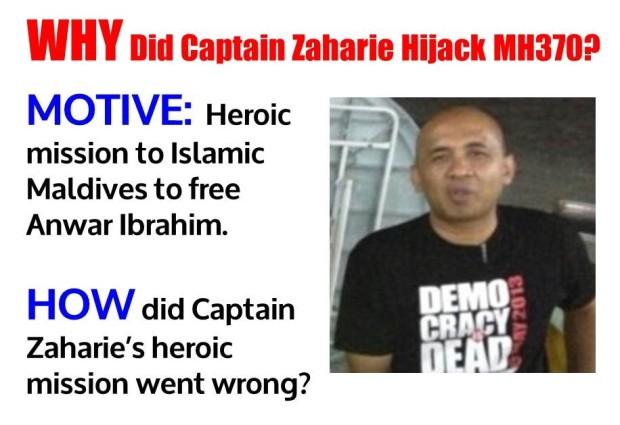 MH370 - WHY did Captain Zaharie Hijack MH370
