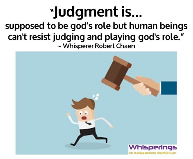 Judgment is... god's role