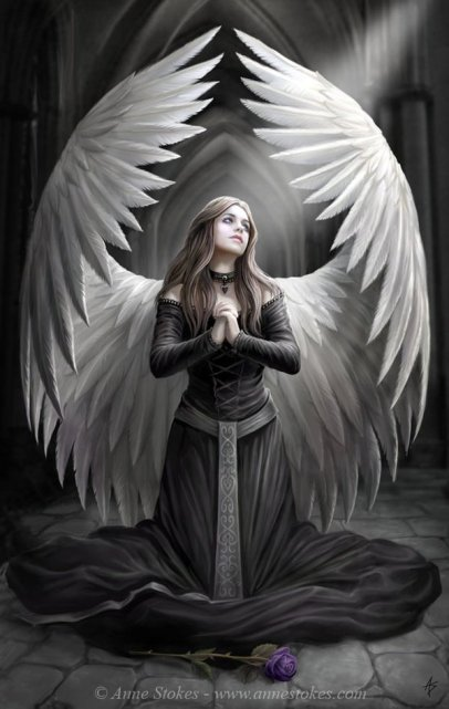 Anne Stokes - 25-Angel-art_by_Ironshod
