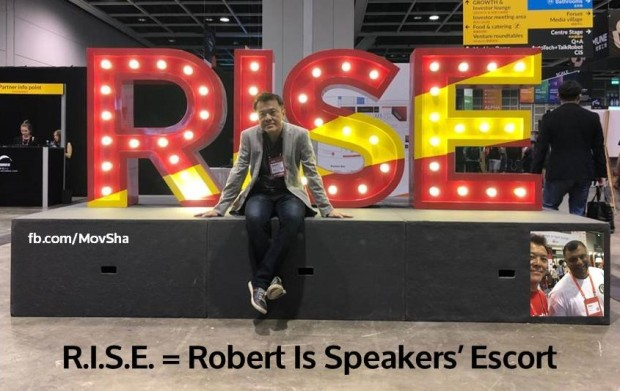 A4. RISE = Robert Is Speakers' Escort