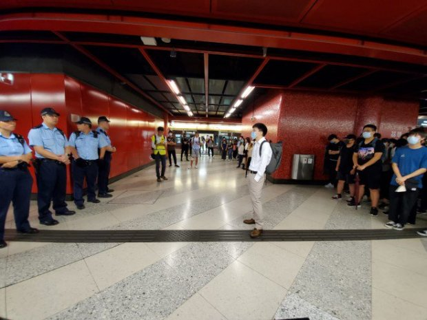 11. Stand off in Lai King MTR station