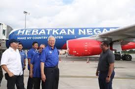 AirAsia blue plane Najib