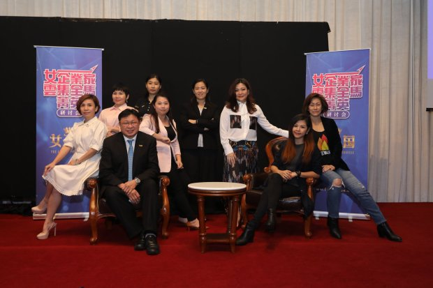 6. Ladies Powerhouse Conference Speakers. Connie Low and Wong Jeh Shyan sitting. (in Mandarin).jpg
