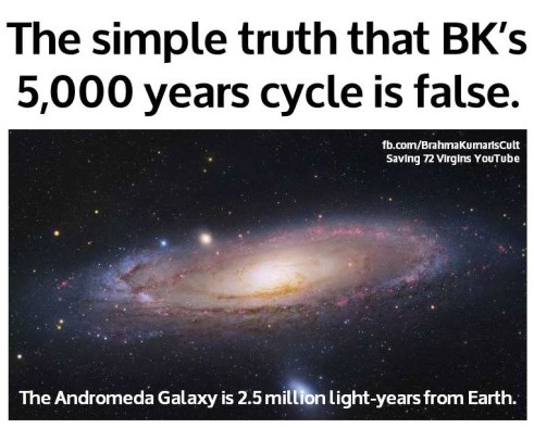 Andromeda Galaxy is 2.5m l-y from Earth