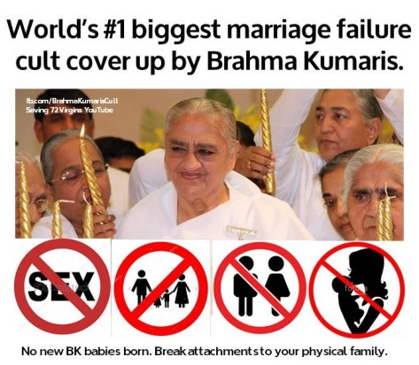 World's biggest marraige failure cult cover up by BKs
