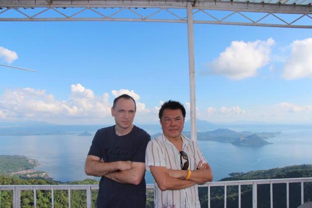 7. Craig Santy in Lake Taal