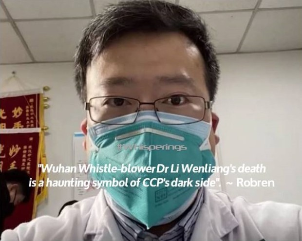 Dr Li Wenliang's death haunting symbol of CCP's dark side