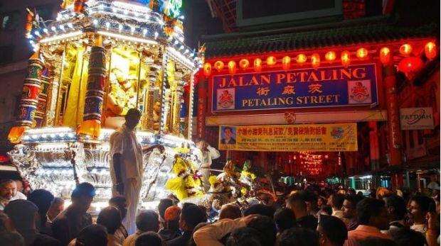 Thaipusam chariot at Petaling Street